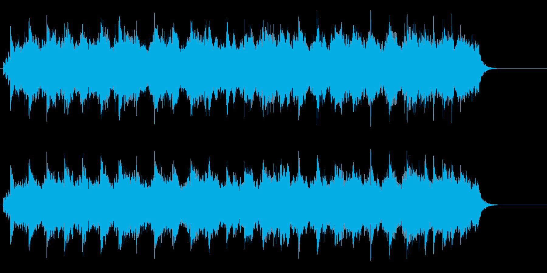 懐かしいイメージのするフォーク風ポップの再生済みの波形