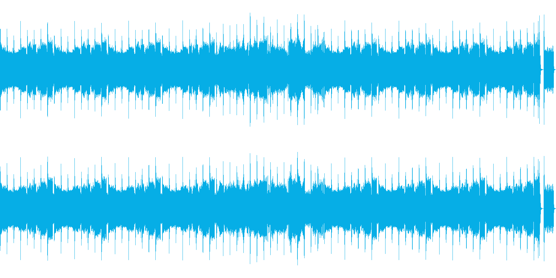 (8bit風、ドラム、ベース抜)の再生済みの波形
