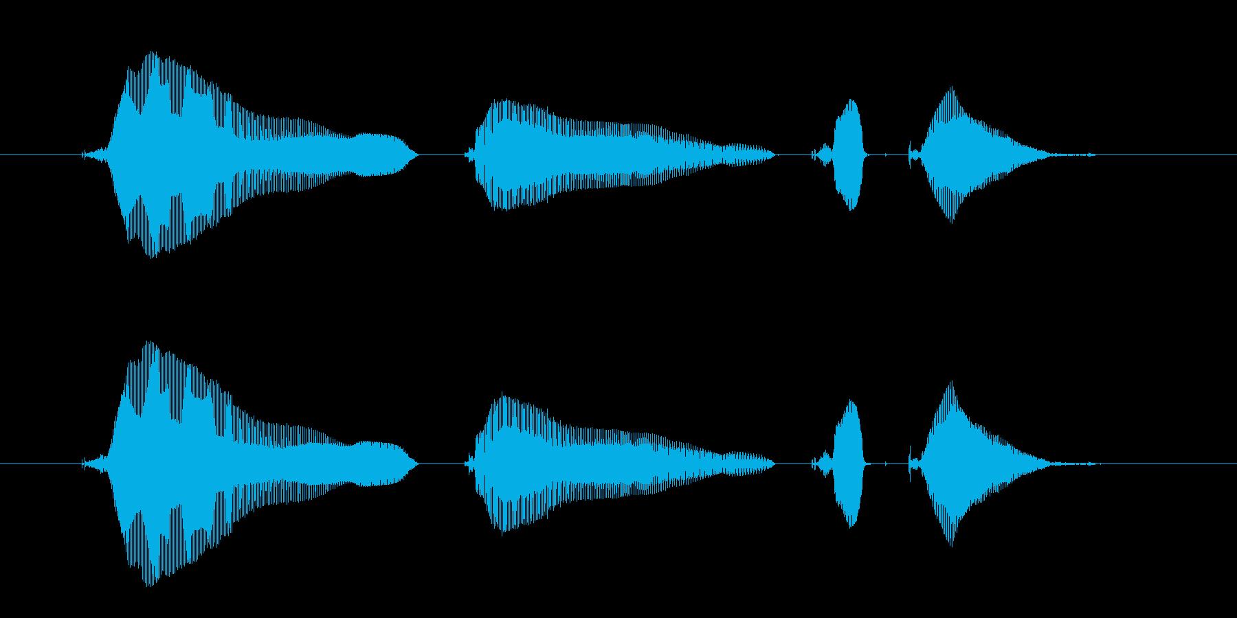 【じゃんけん】「じゃーんけーん、ちょき…の再生済みの波形