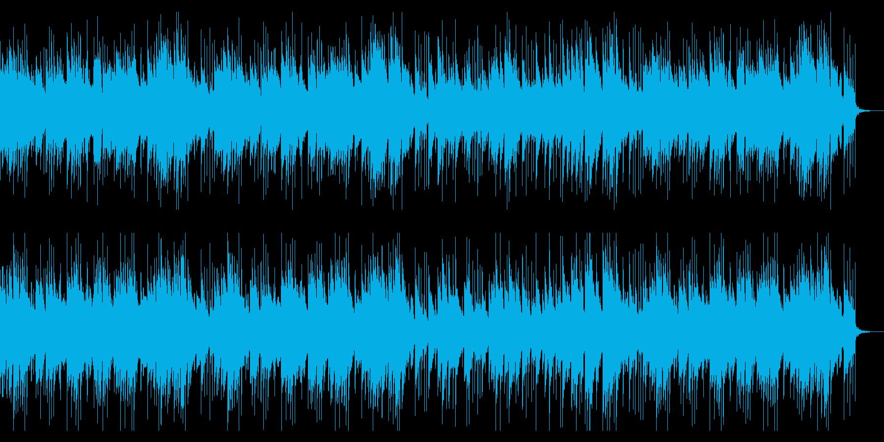 ロマンチックなジャズピアノ曲の再生済みの波形