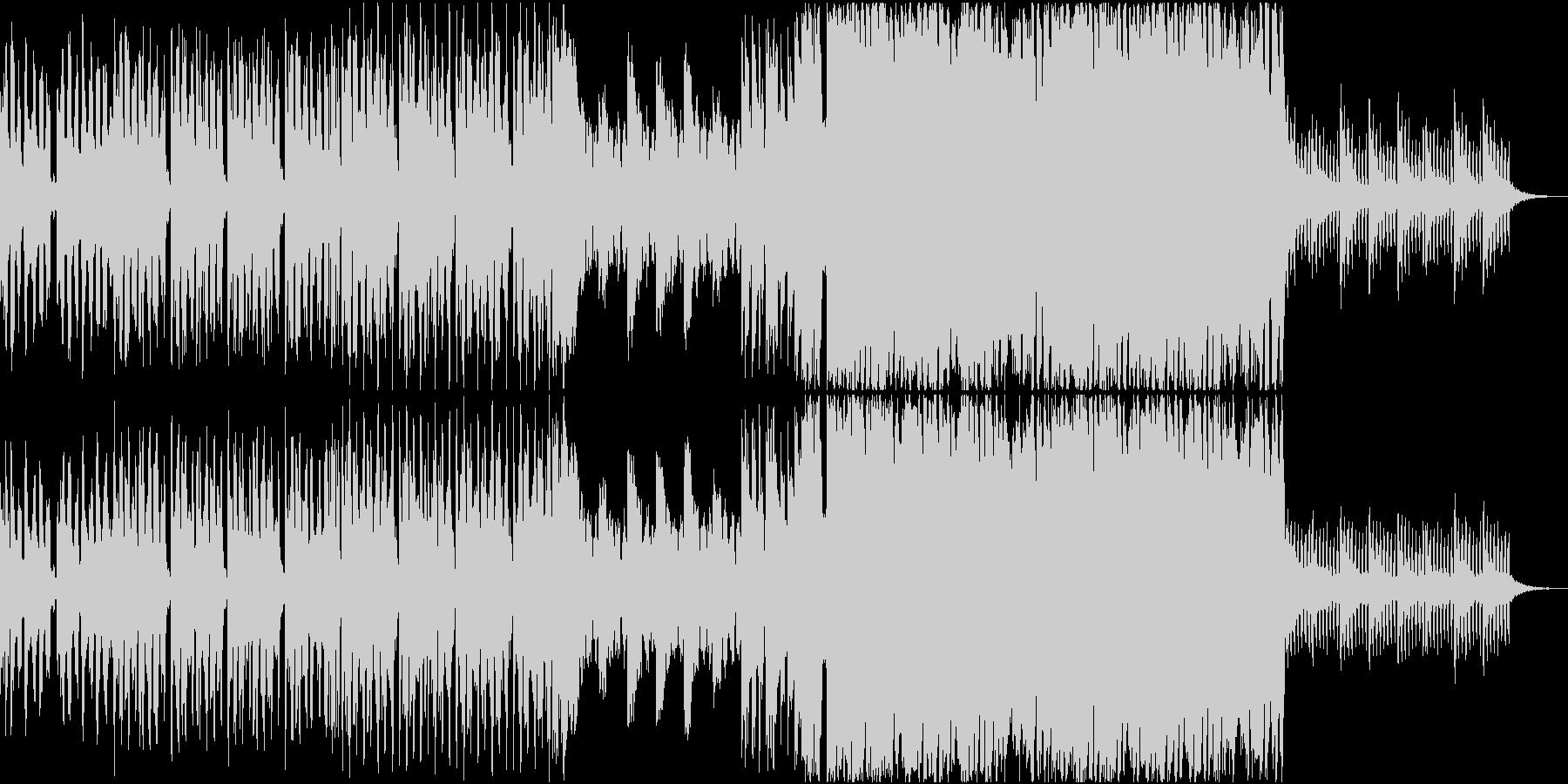 可愛いポジティブなEDMの未再生の波形