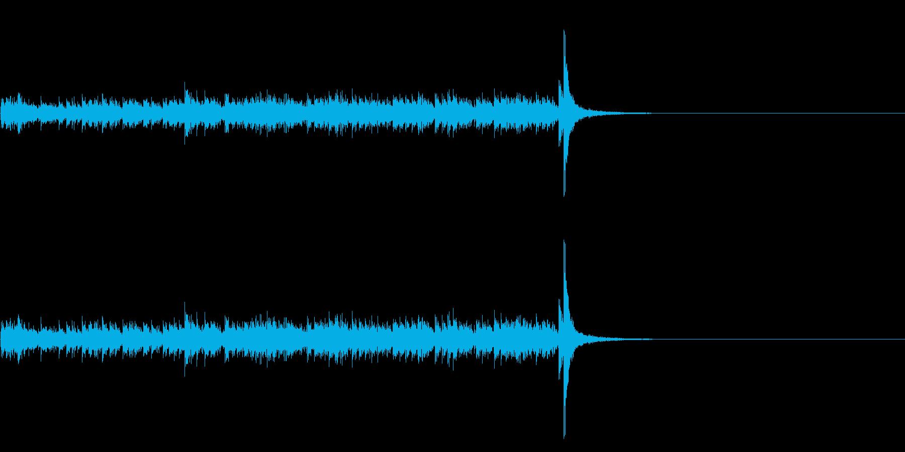 スタタタ タン! スネアロール3ミドルの再生済みの波形
