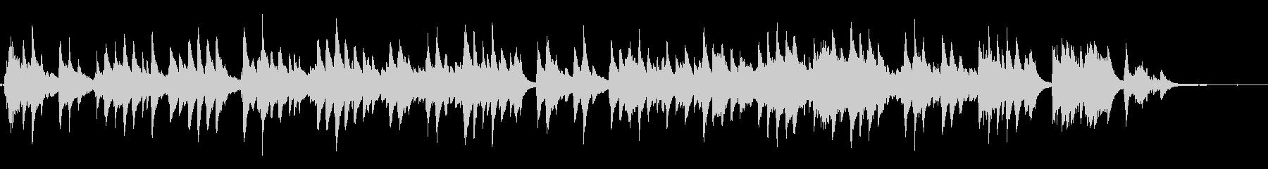 童謡「さくらさくら」をピアノソロでの未再生の波形