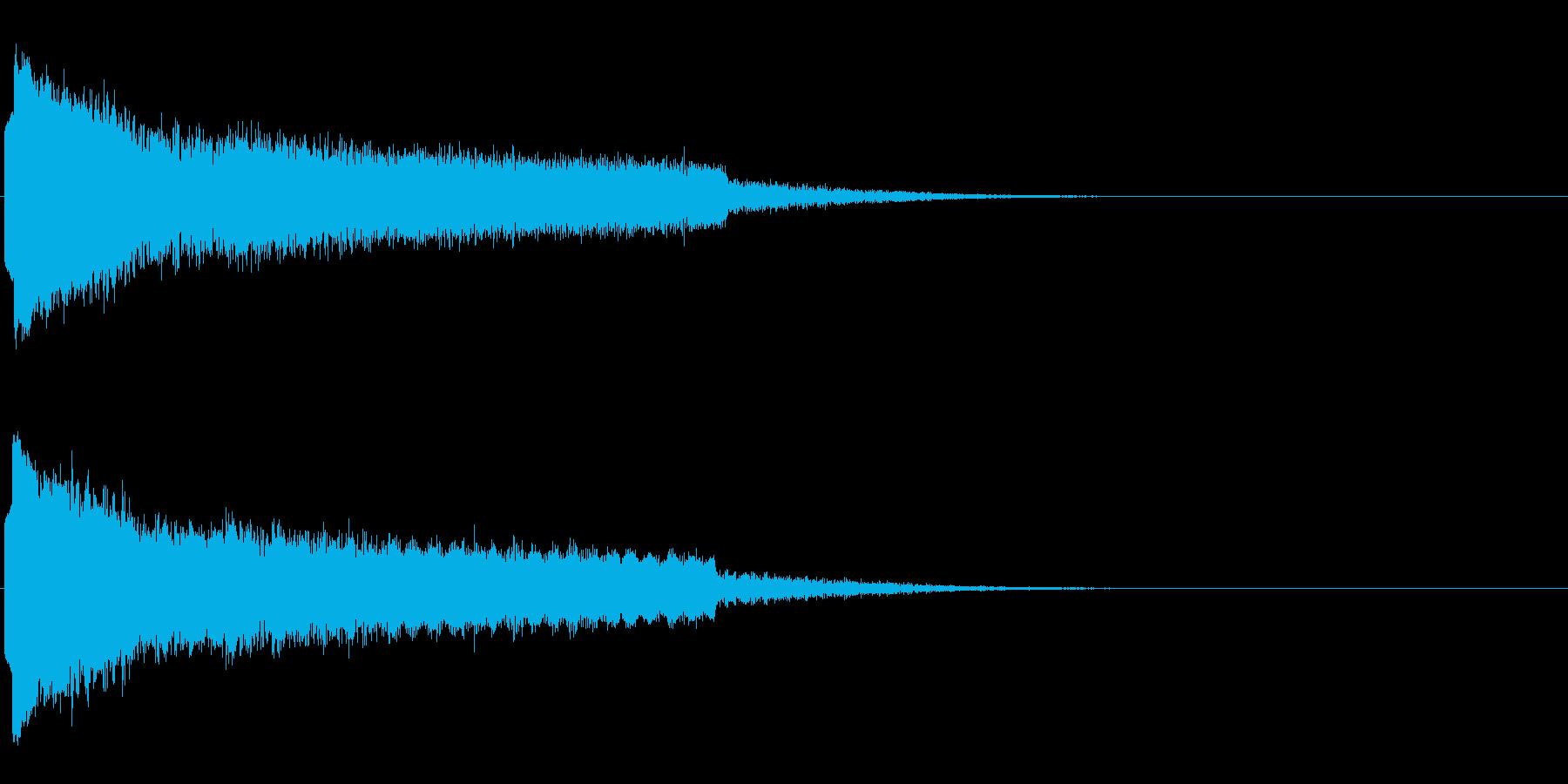 キューン ヒューン ピーン キューン の再生済みの波形