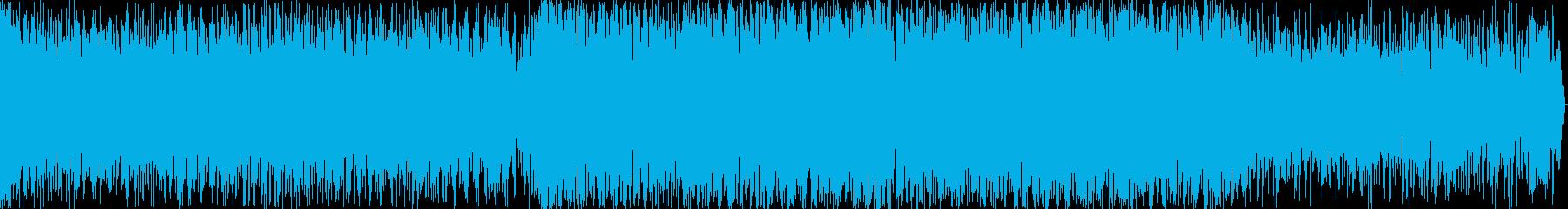 近未来的イメージのEDM楽曲の再生済みの波形