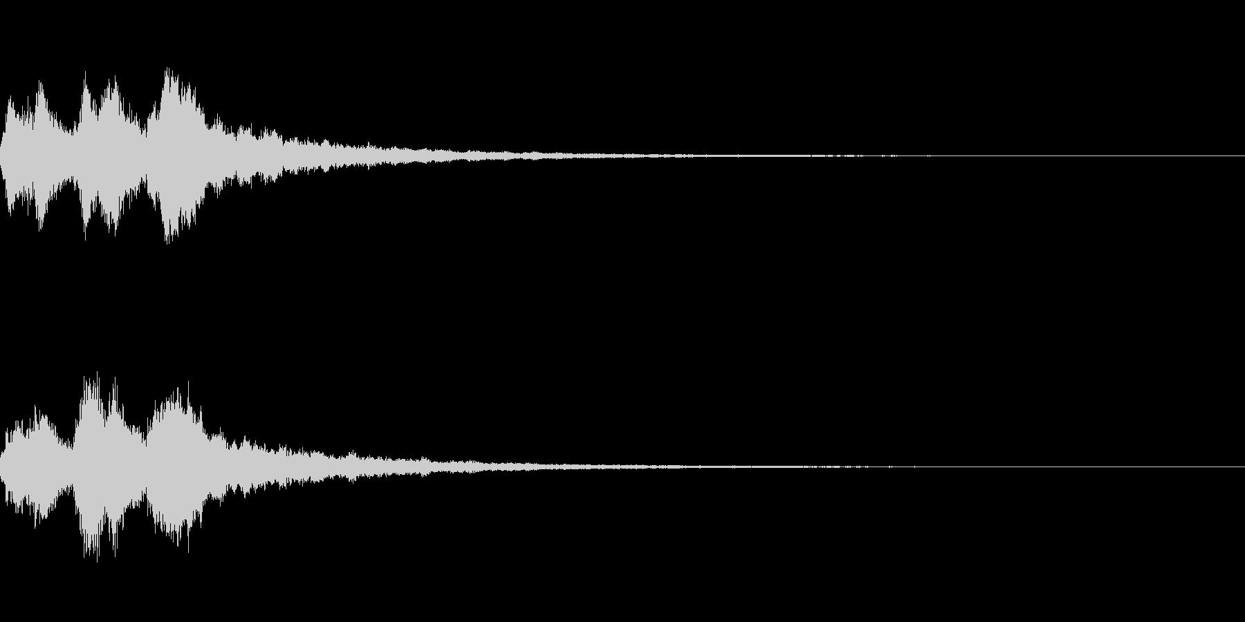 3段階のキラキラジングルの未再生の波形