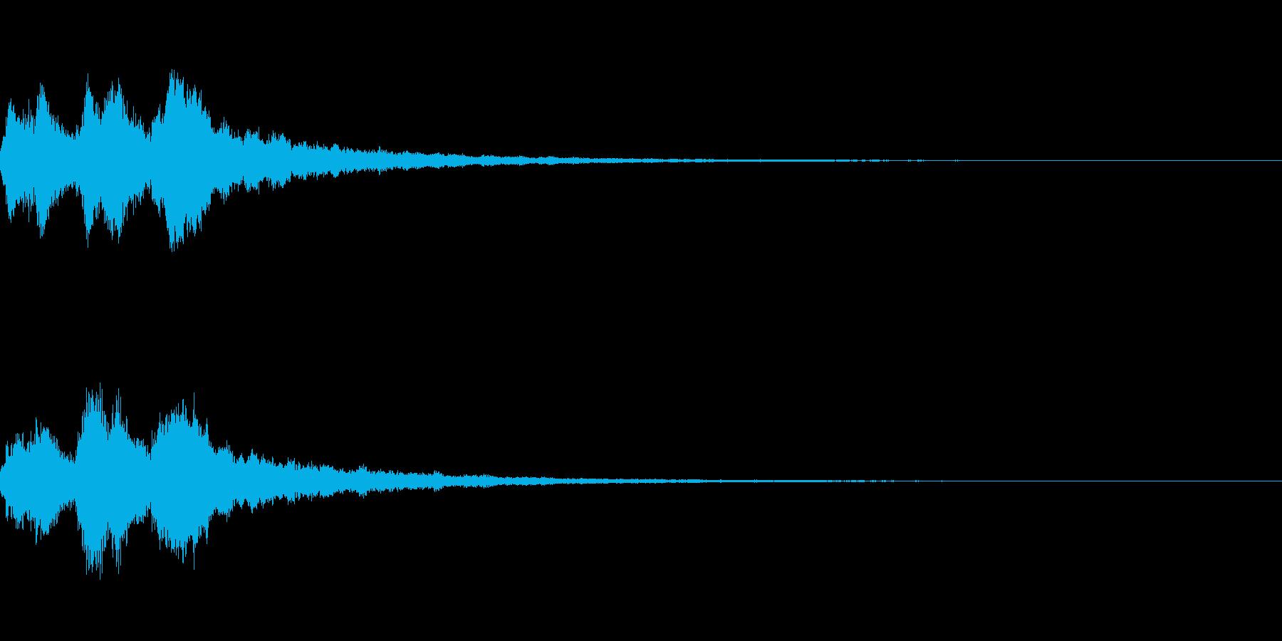 3段階のキラキラジングルの再生済みの波形