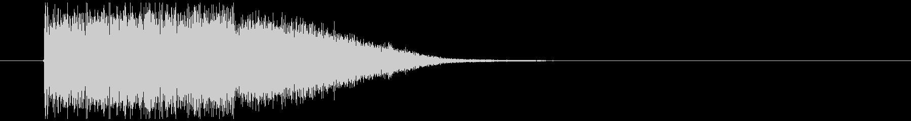 金属系インパクト音の未再生の波形