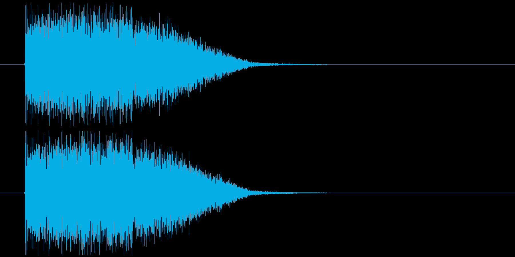 金属系インパクト音の再生済みの波形