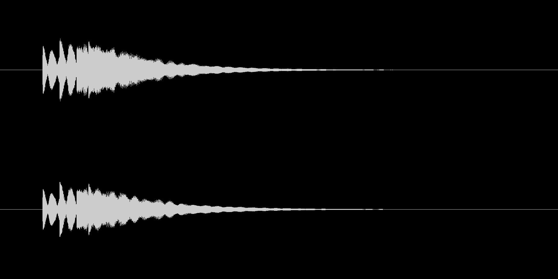 ピロピロン(お知らせ、合図)の未再生の波形
