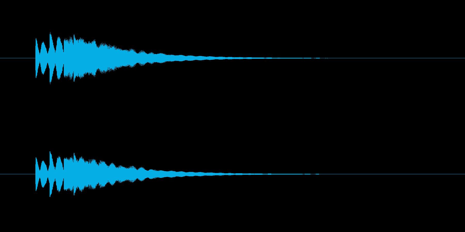 ピロピロン(お知らせ、合図)の再生済みの波形