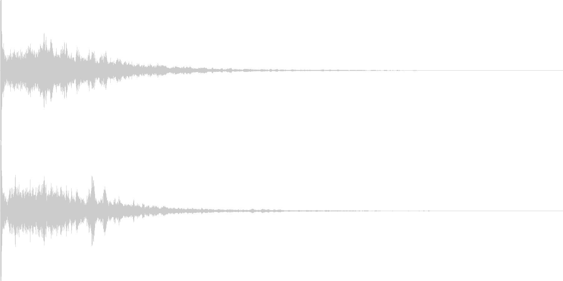 キラーン(ゲームの氷魔法の様な電子音)の未再生の波形