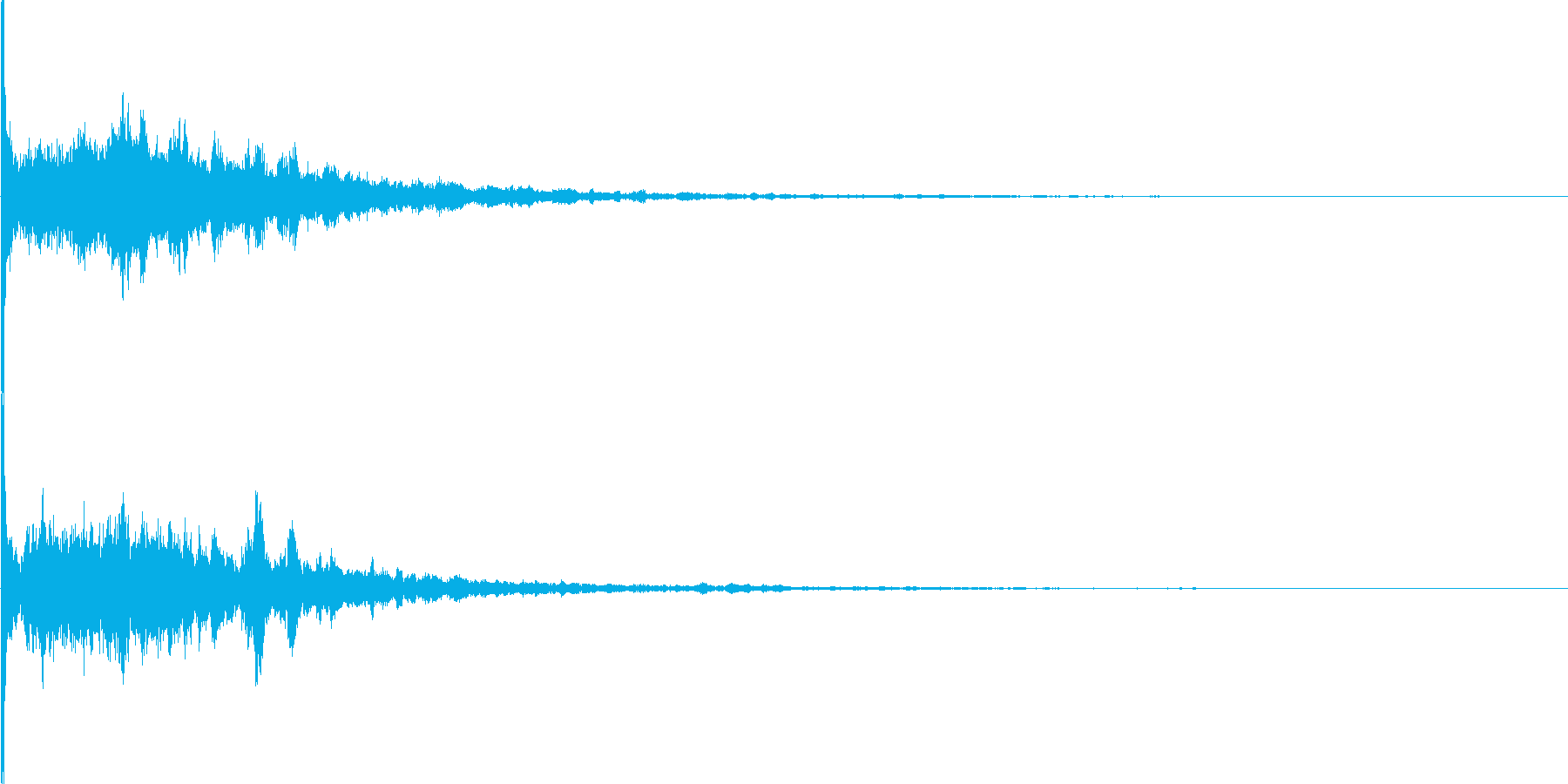 キラーン(ゲームの氷魔法の様な電子音)の再生済みの波形