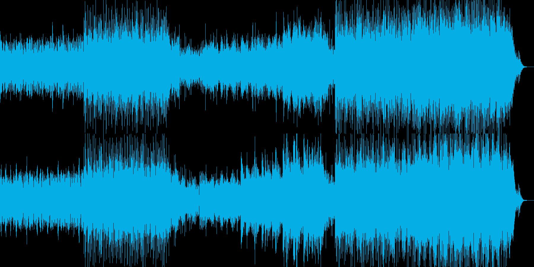 和風音楽ー花火の再生済みの波形
