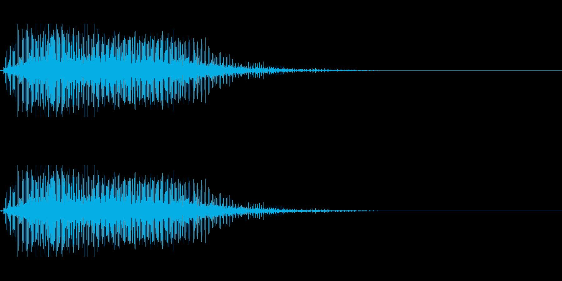 ホラーな演出に 2の再生済みの波形