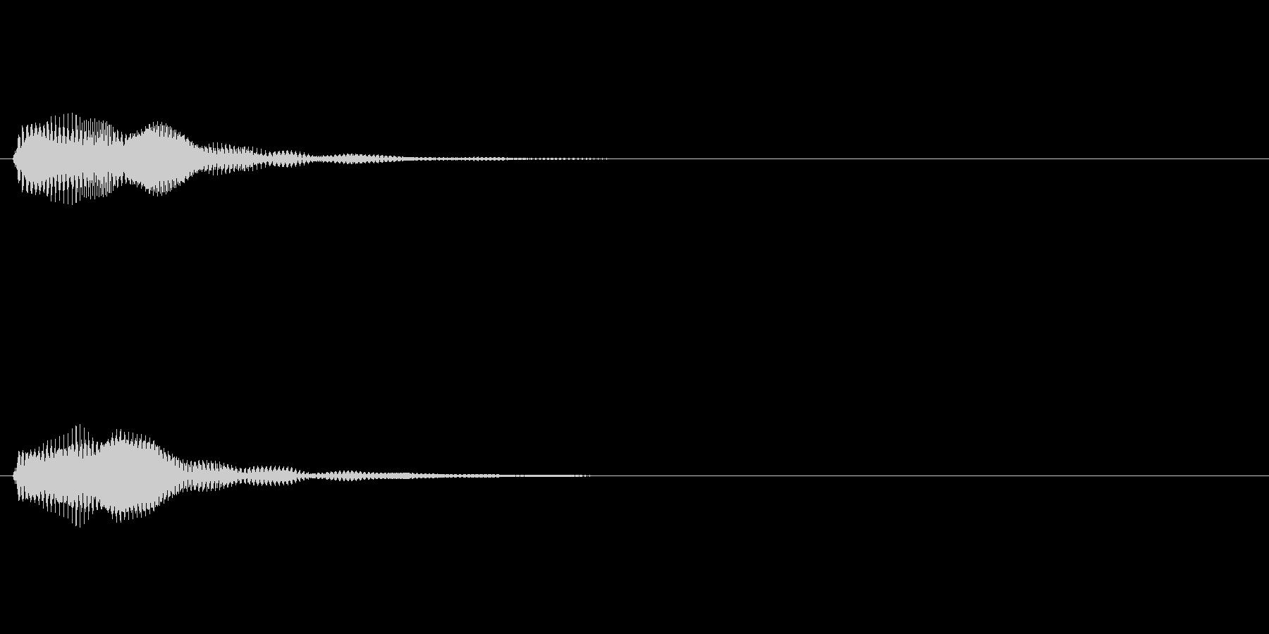 ひんやりした残響が印象的な操作/タップ音の未再生の波形