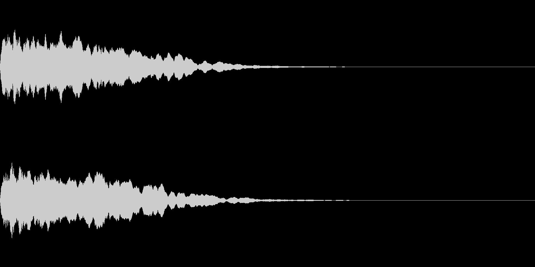 トレーラー用シネマチックアラーム・ピン1の未再生の波形