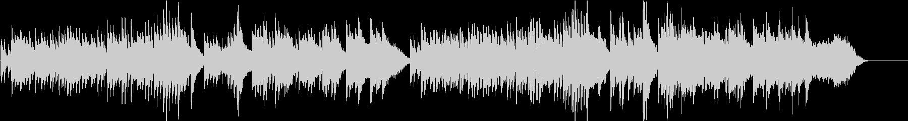 ゆったりと切ないピアノバラードの未再生の波形