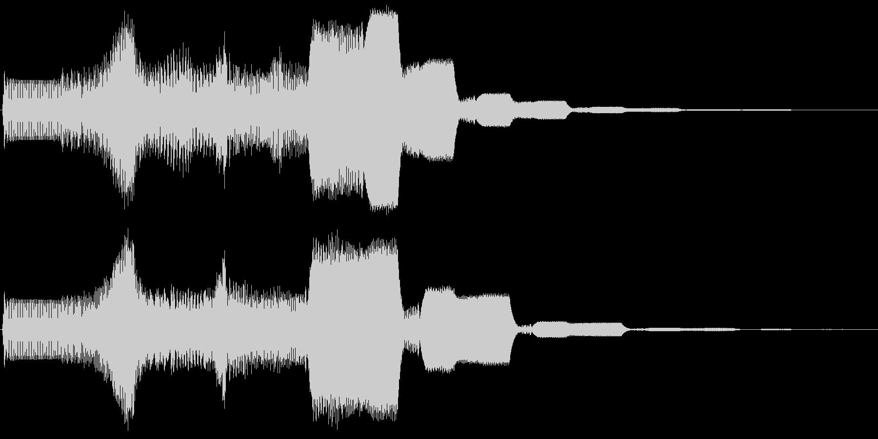 ピュゥゥイィィ。上がる・伸びる音(長)の未再生の波形