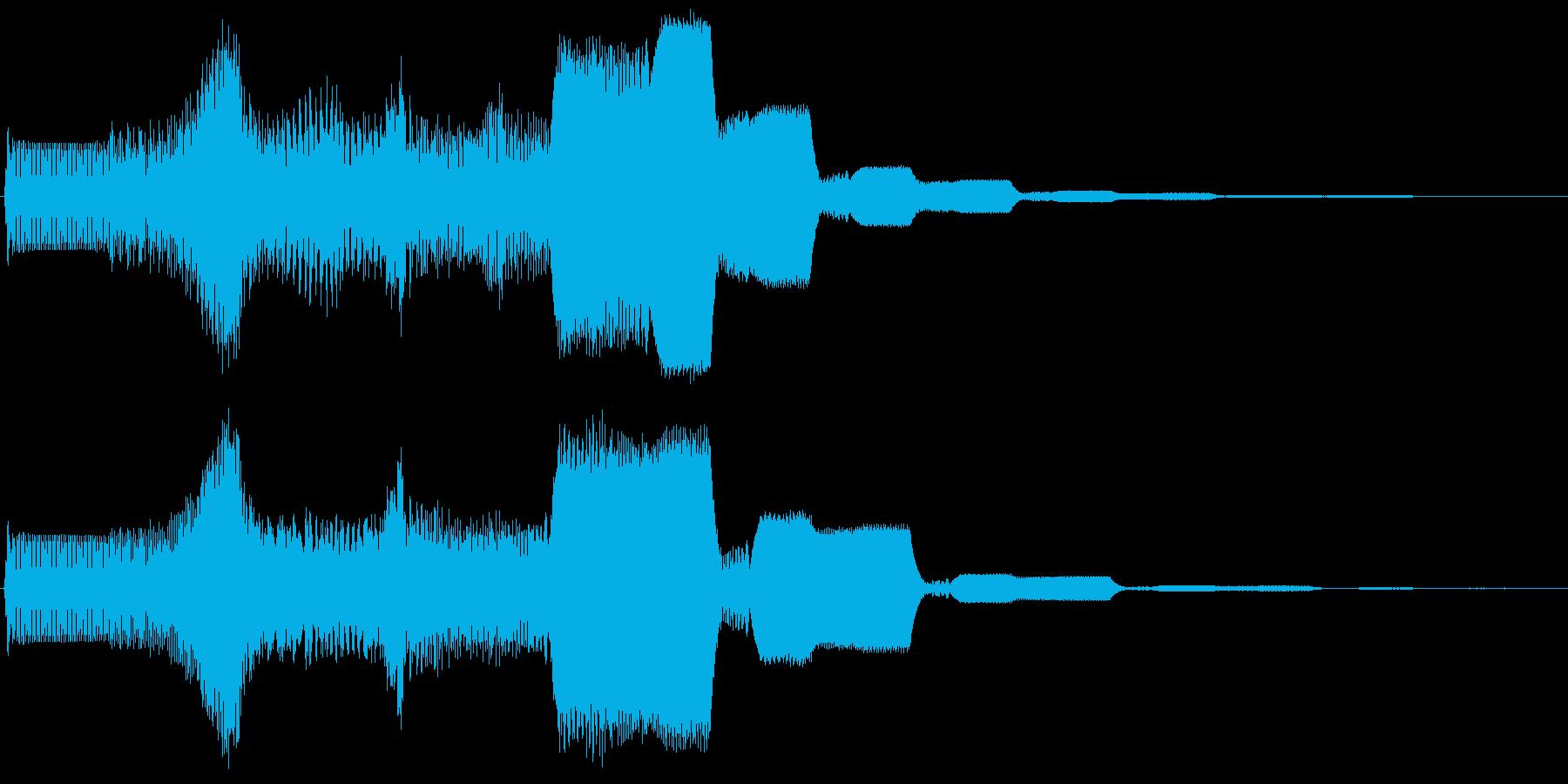 ピュゥゥイィィ。上がる・伸びる音(長)の再生済みの波形
