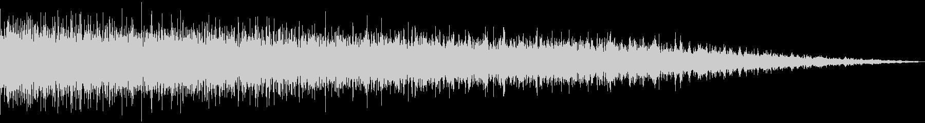 シンセで作った落下音の未再生の波形