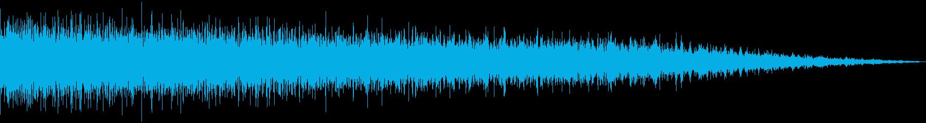 シンセで作った落下音の再生済みの波形