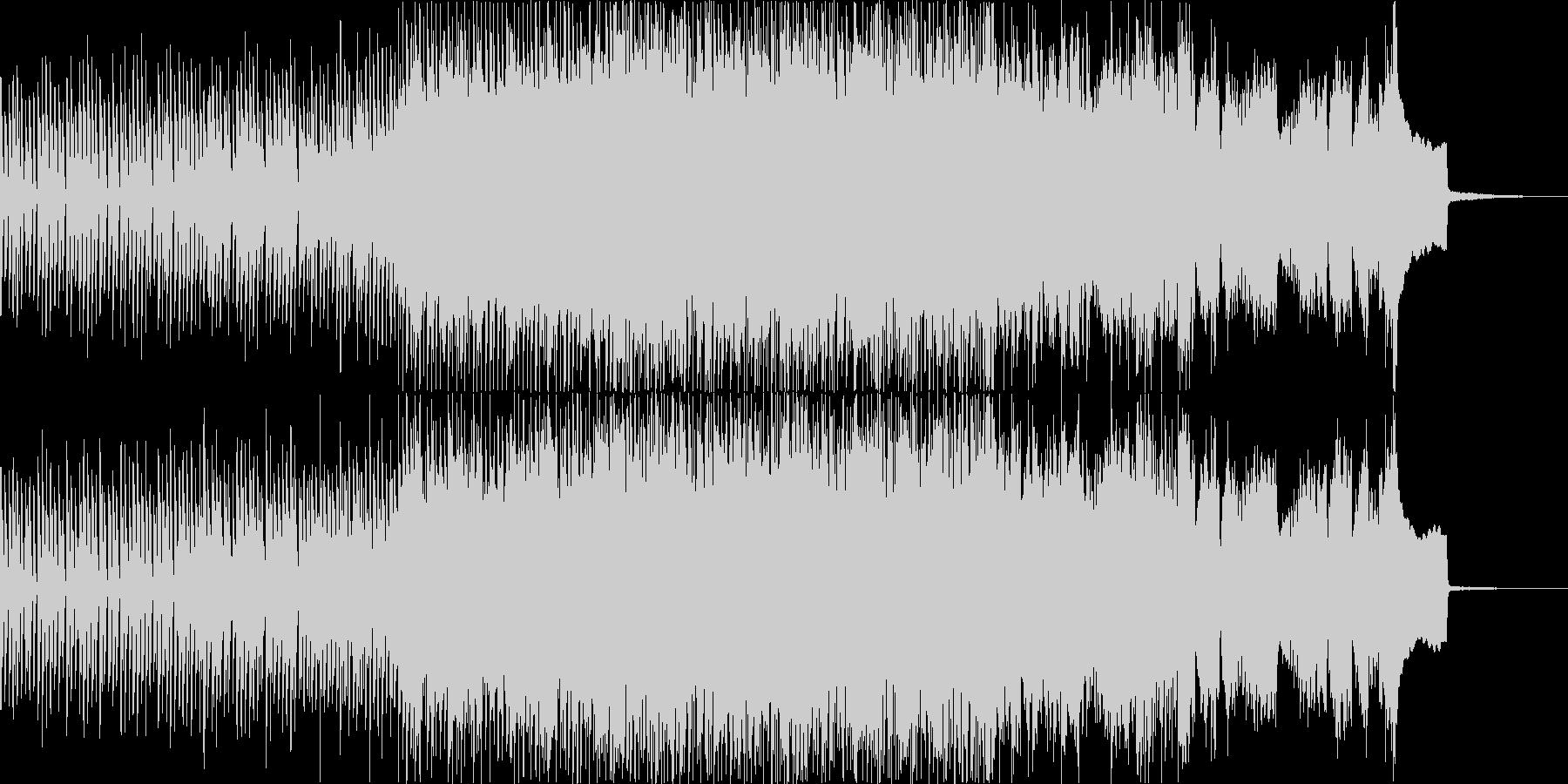 スウィートでカラフルなシンセポップソングの未再生の波形