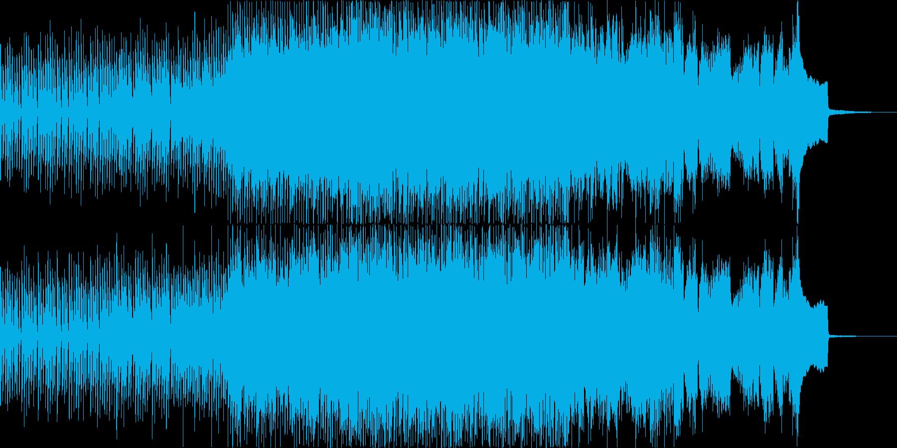 スウィートでカラフルなシンセポップソングの再生済みの波形