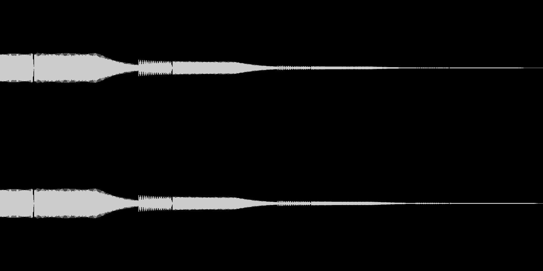 デジタル決定音1ーシンセ ポップ ピコンの未再生の波形