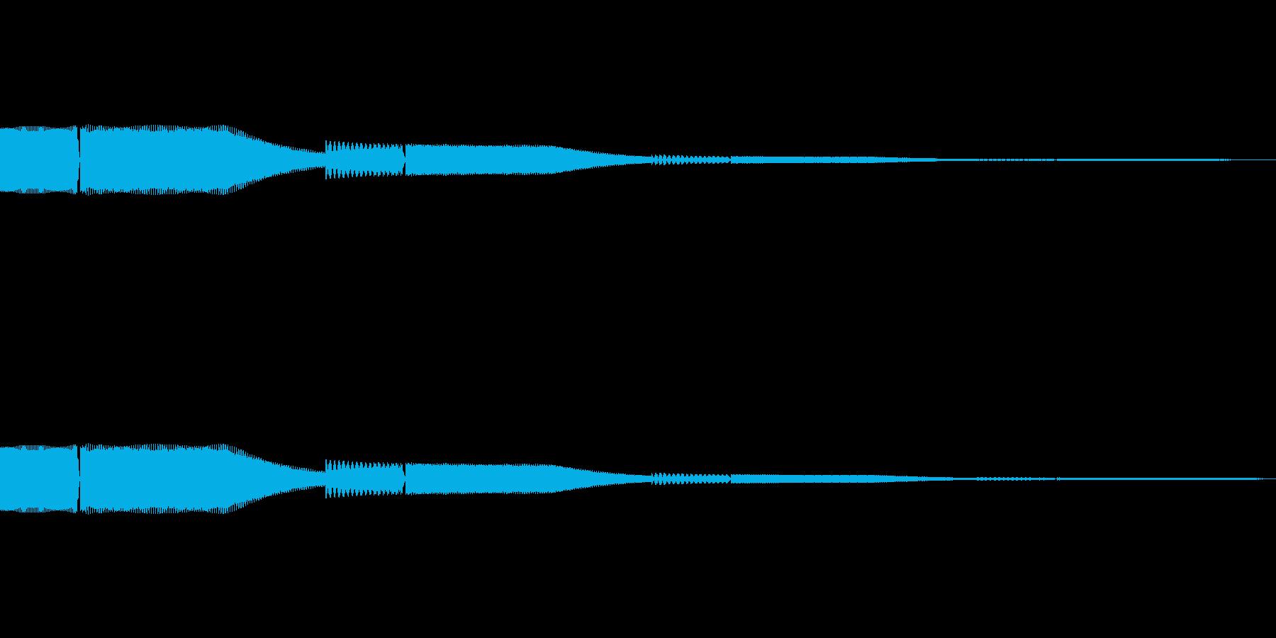 デジタル決定音1ーシンセ ポップ ピコンの再生済みの波形