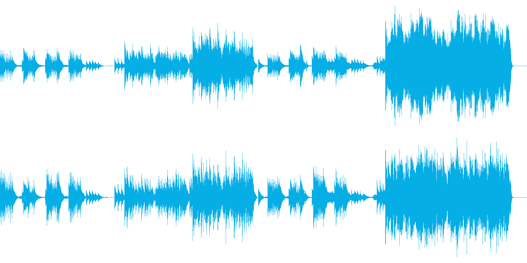 花の季節/悲しき天使(ピアノと弦)の再生済みの波形