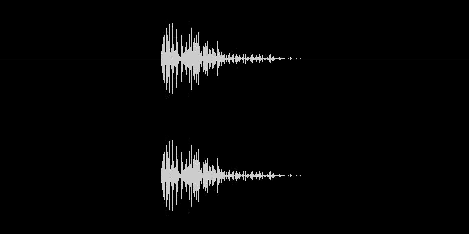決定・キャンセル音(シンプル)の未再生の波形