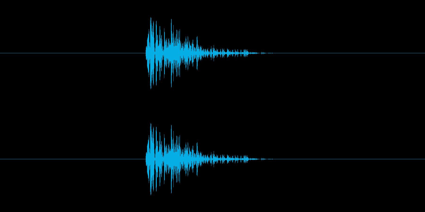 決定・キャンセル音(シンプル)の再生済みの波形