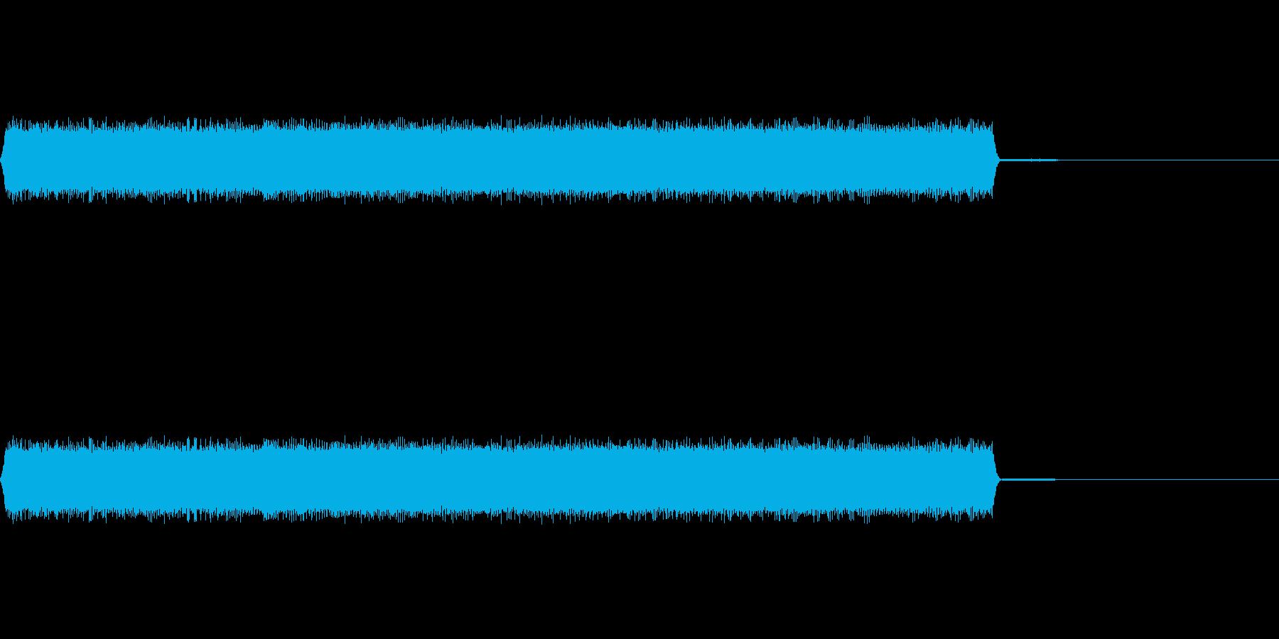 ロボットがしゃべっているような音の再生済みの波形