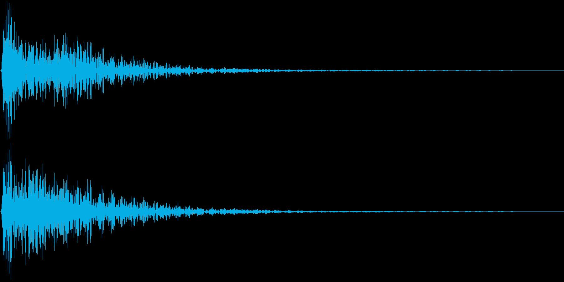 選択音、決定音など 宇宙風A ブオーンの再生済みの波形