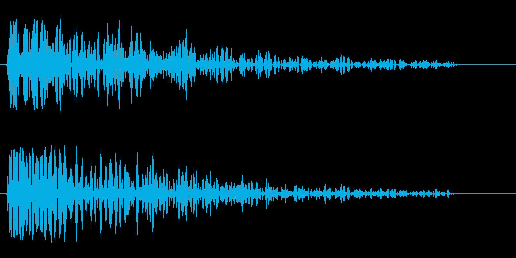 ドン(低音で深く響く音)の再生済みの波形