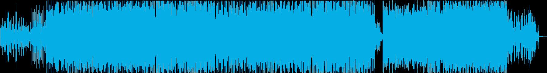 切ないシンセのリフが印象的なEDMの再生済みの波形