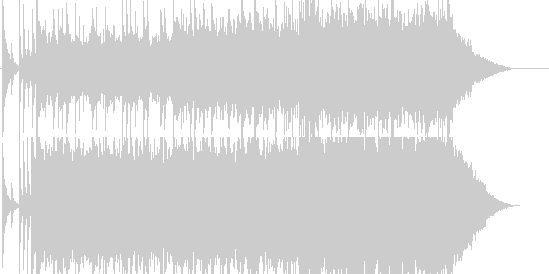 ギターの力強いグランジロック風BGMの未再生の波形