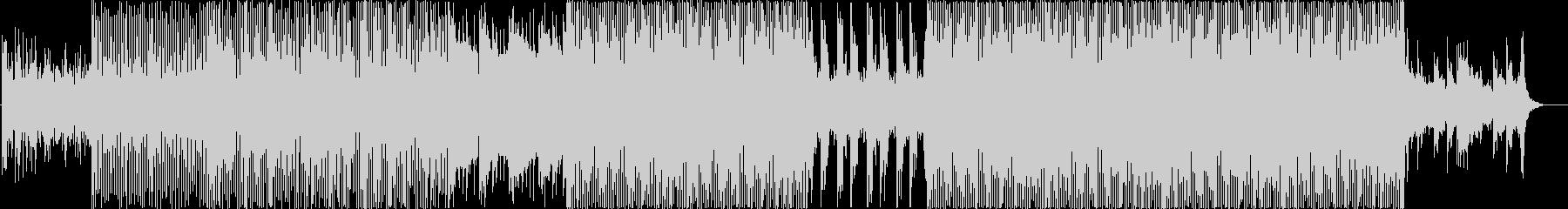 無機質なイメージのエレクトロニカ風BGMの未再生の波形
