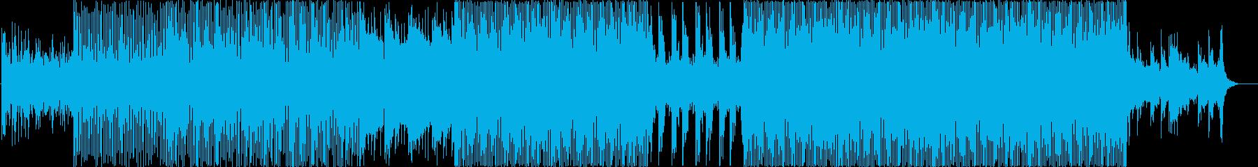 無機質なイメージのエレクトロニカ風BGMの再生済みの波形