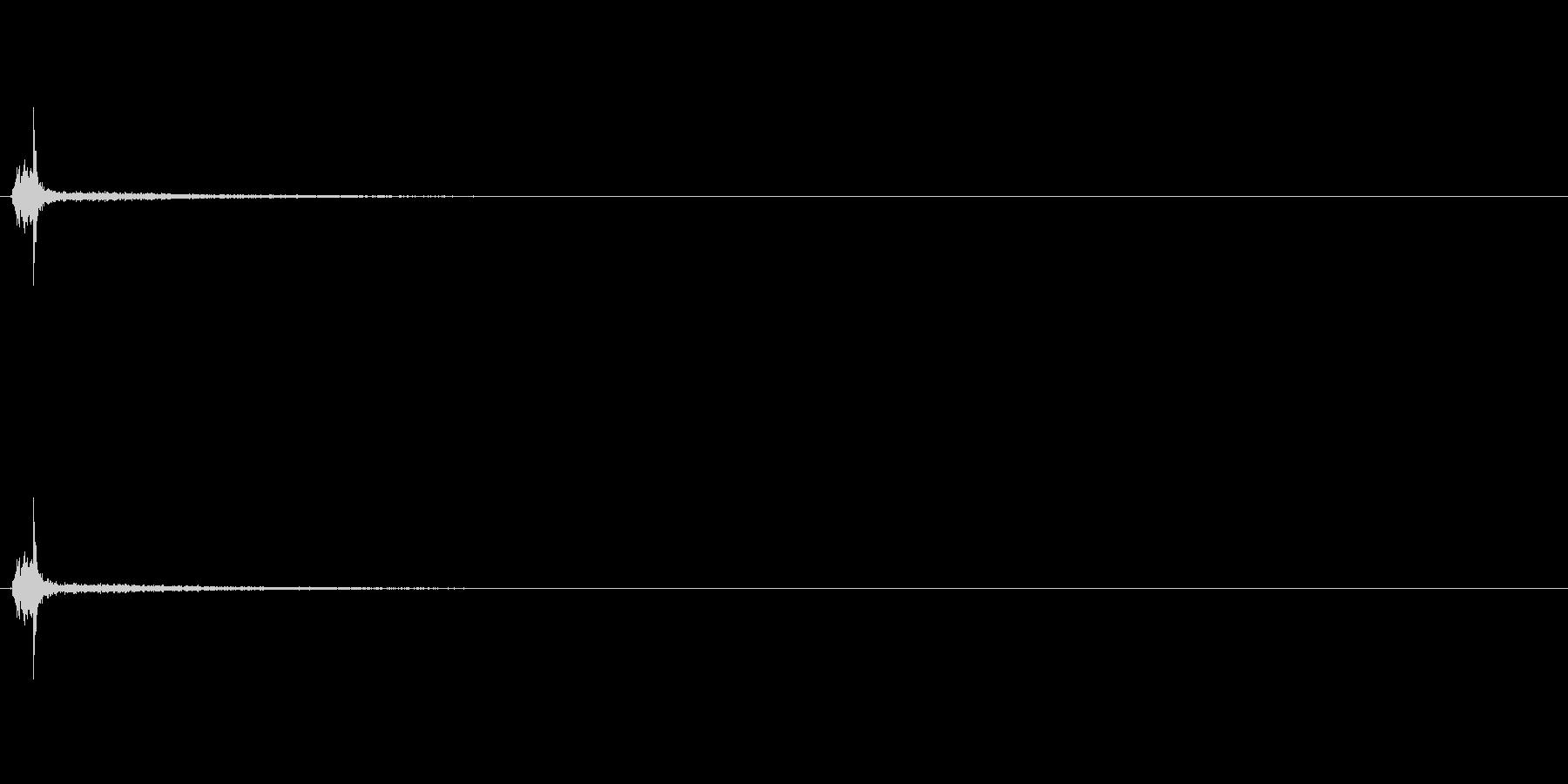 ゴルフ:1Wでフルスイング(残響あり)の未再生の波形