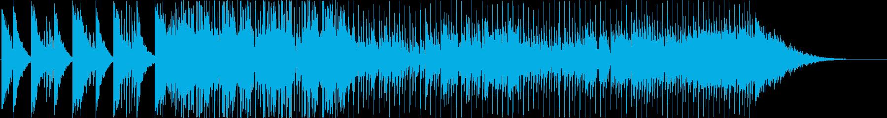ブラスと和楽器の和風ファンクロックの再生済みの波形