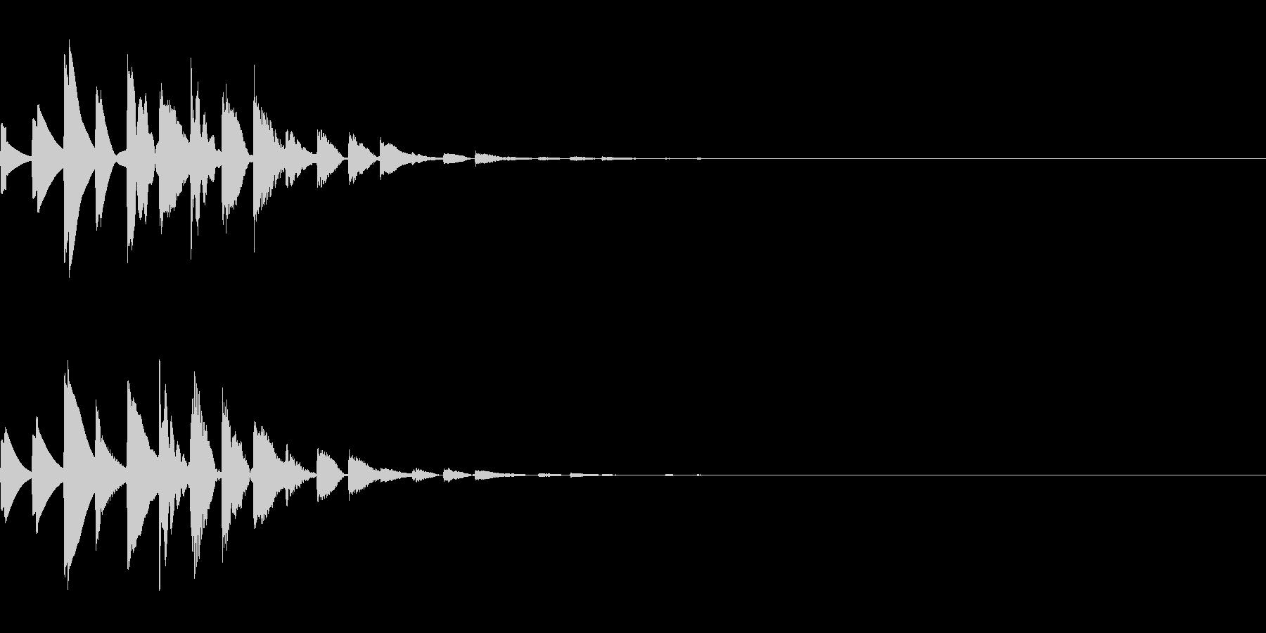 仕掛けを解除した時のエフェクトの未再生の波形