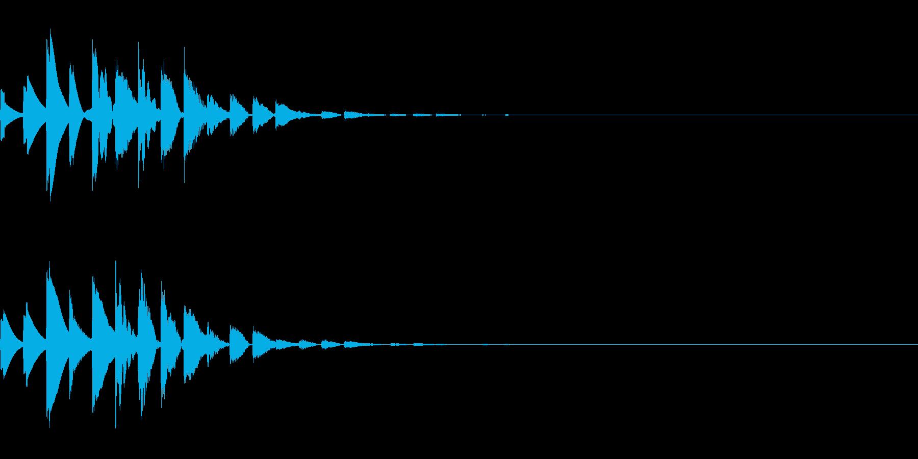 仕掛けを解除した時のエフェクトの再生済みの波形