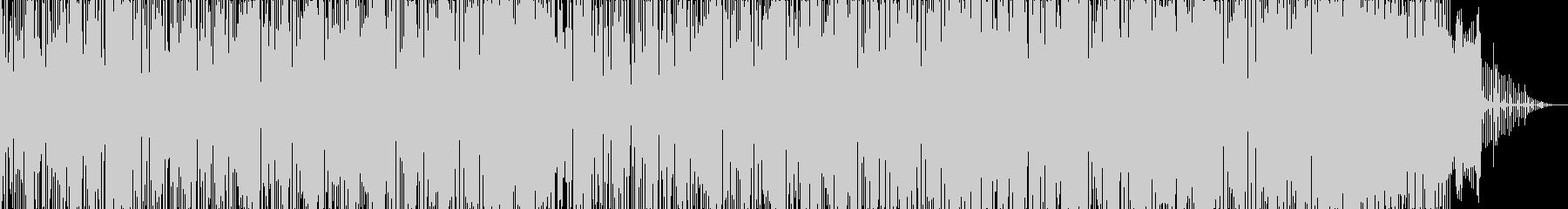 ヒップホップ風のダンスミュージック2の未再生の波形
