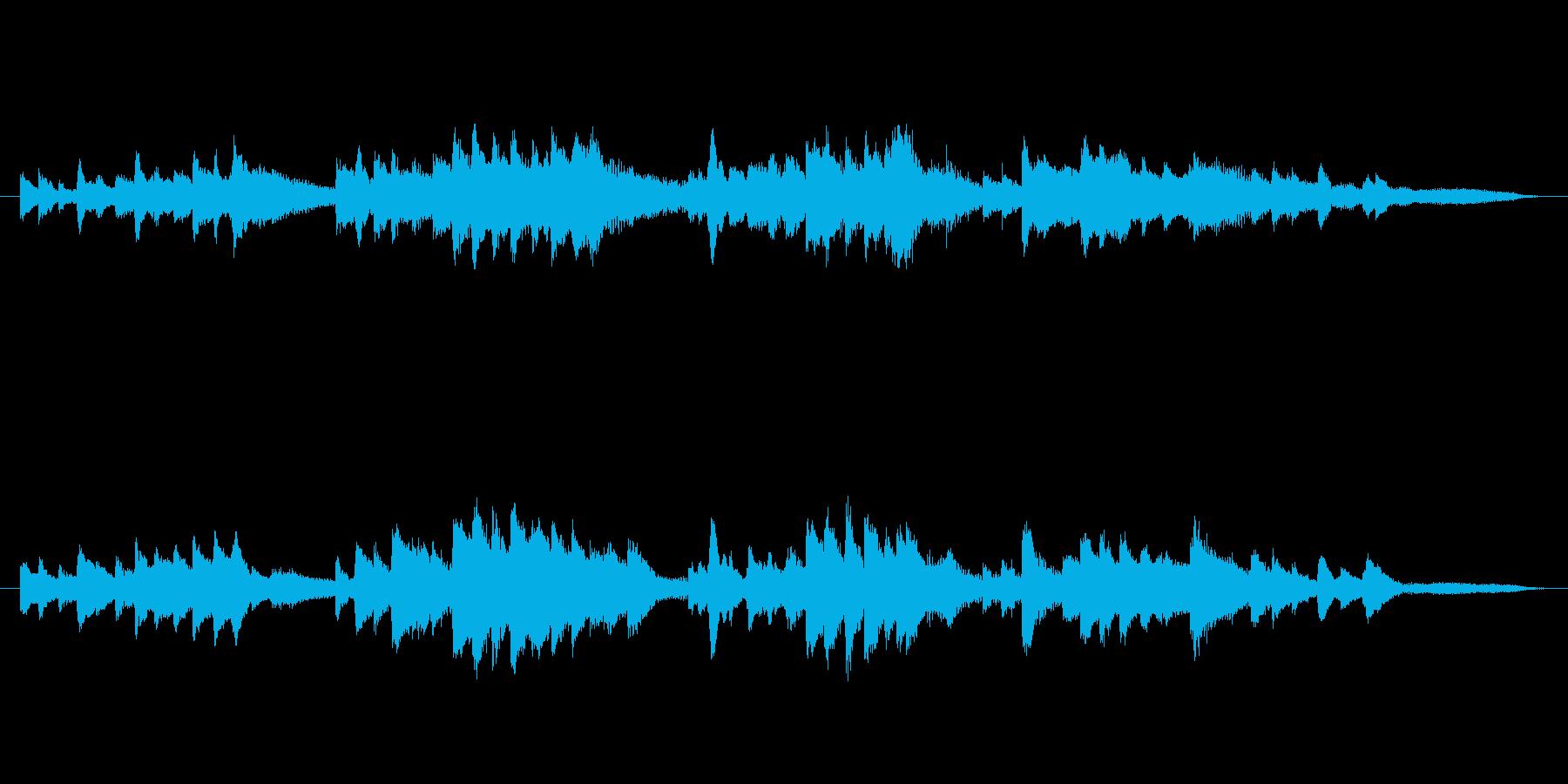 爽やかな木漏れ日:ピアノの再生済みの波形