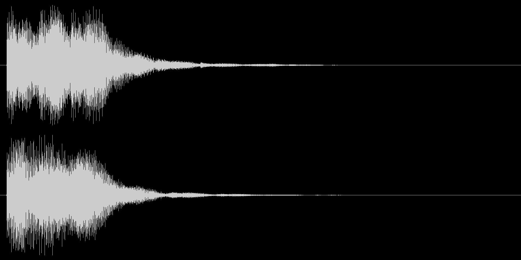 スタート音 決定音 選択音 クリック音の未再生の波形