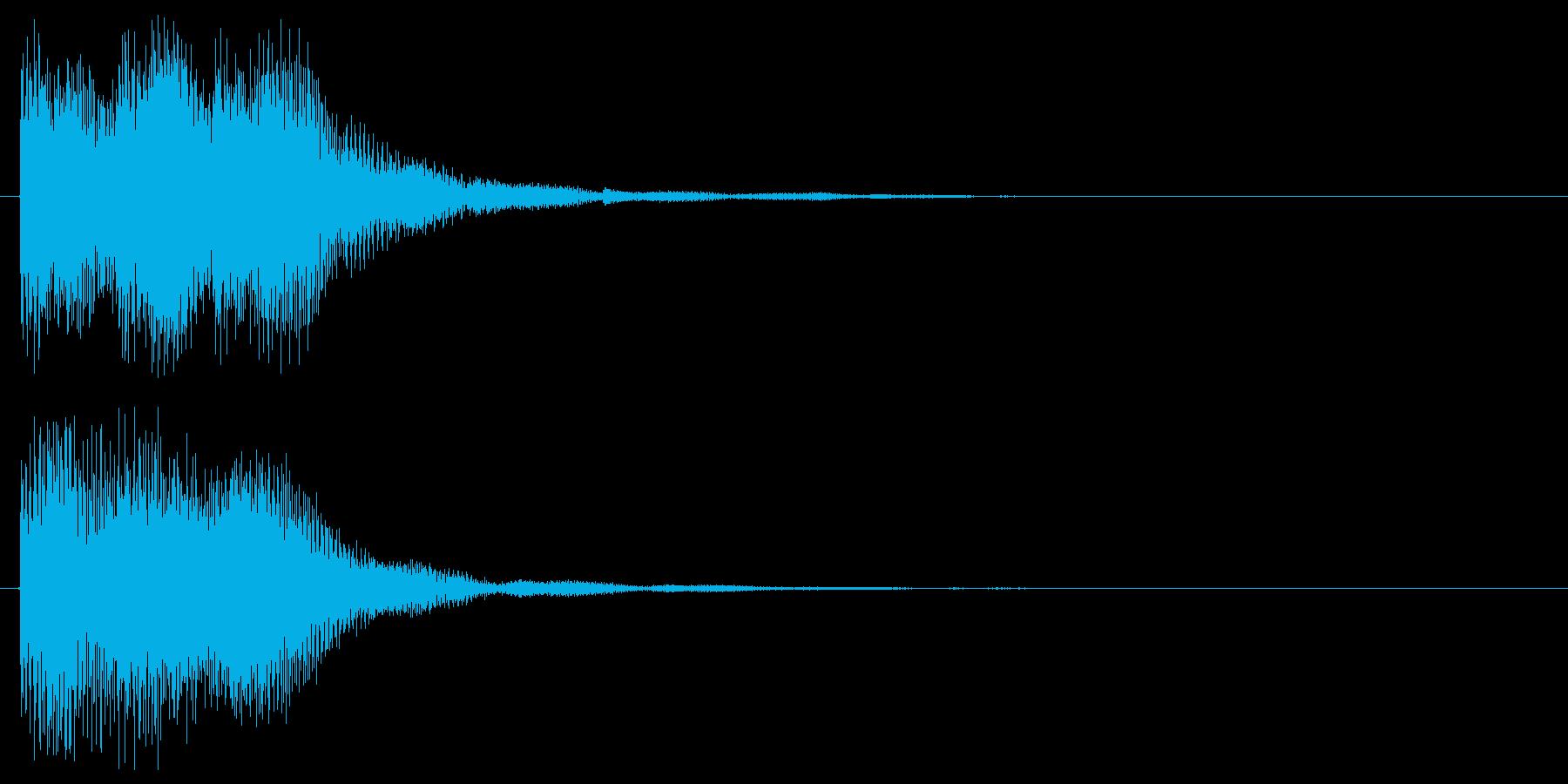 スタート音 決定音 選択音 クリック音の再生済みの波形