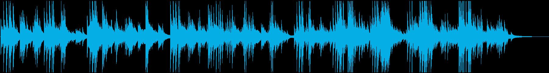 ゆるやかで感動的なピアノバラードの再生済みの波形