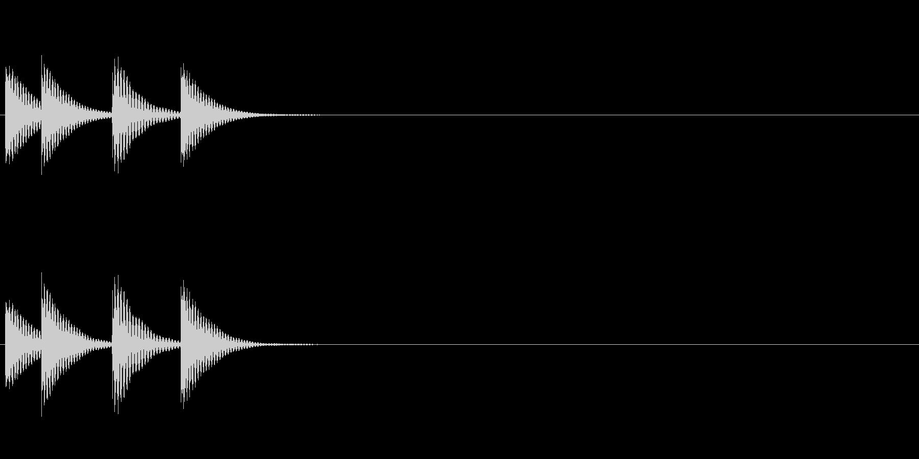 低い木琴ジングルの未再生の波形